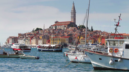 Rovinj city, Croatia Stock Video Footage