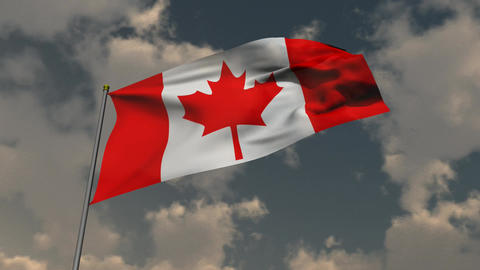Flag of Canada HD Stock Video Footage