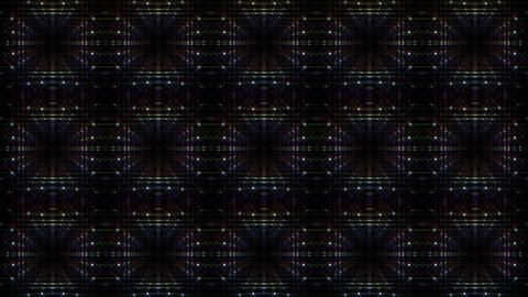 LED Light Kaleidoscope F1Bok1 HD Stock Video Footage