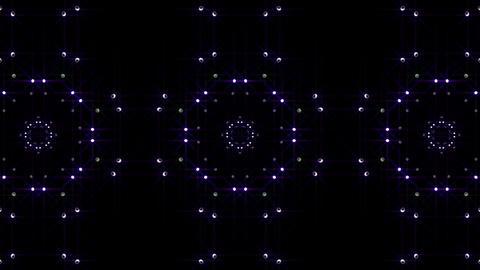 LED Light Kaleidoscope P1BoK4 HD Stock Video Footage