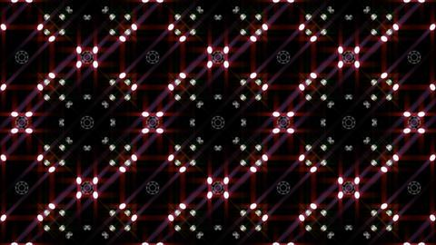 LED Light Kaleidoscope W1BiK2 HD Stock Video Footage