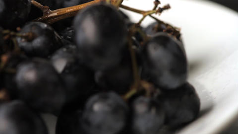 delicious grapes on a white background Stock Video Footage
