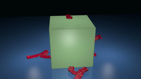 Gift box opening, with glow and stars Animation
