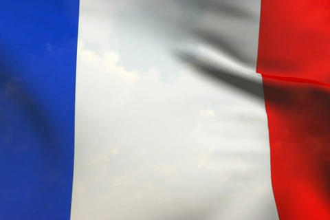 FranceFlag06 Stock Video Footage