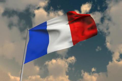 FranceFlag06 Stock Video Footage