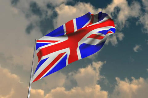 Flag of Britain Stock Video Footage