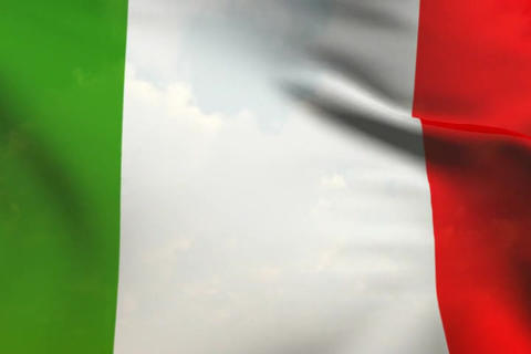 Flag of Italy Stock Video Footage