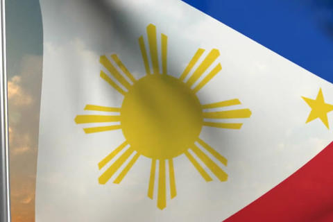 Flag of the Phillipines Stock Video Footage