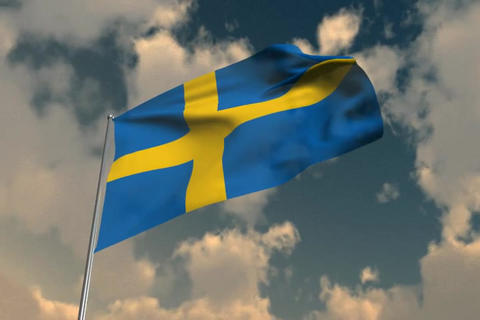 Flag of Sweden Animation