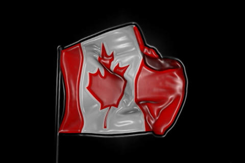Flag of Canada with Effects Animation