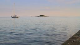 Lagoon in Adriatic Sea at summer, Croatian coastline Footage