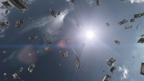 Money falling Aa6 dollar HD Stock Video Footage