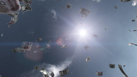 Money falling Aa6 mix HD Stock Video Footage