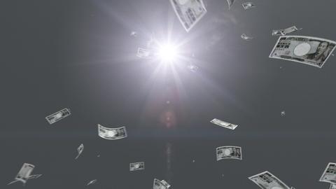 Money falling Bb5 yen HD Stock Video Footage