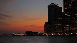 New York City sunset Stock Video Footage