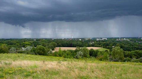 thunderstorm cloud over bochum time lapse Stock Video Footage