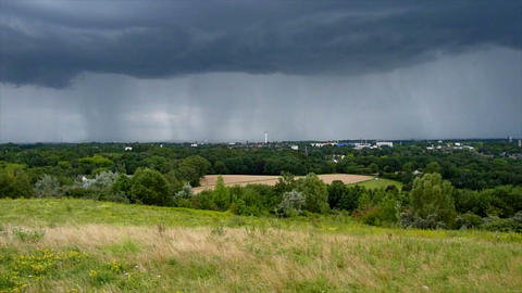 thunderstorm cloud over bochum time lapse Footage