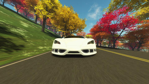 sports car Animation