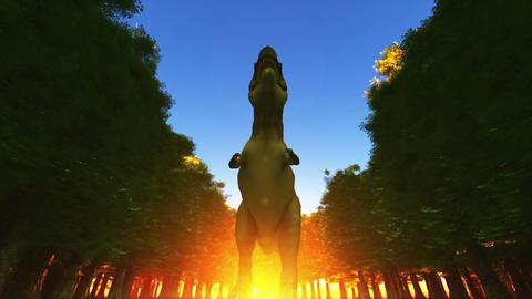 Dinosaur T-REX Stock Video Footage