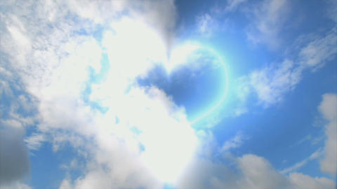 heart of clouds Stock Video Footage