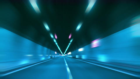 tunnel abstract speed 12 Footage
