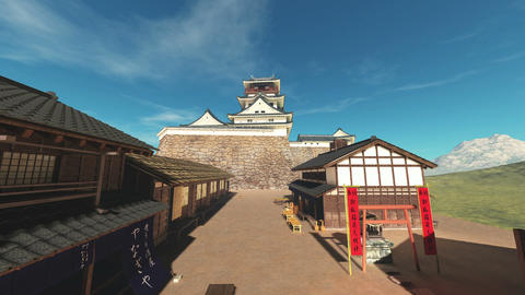 Japanese castle Stock Video Footage
