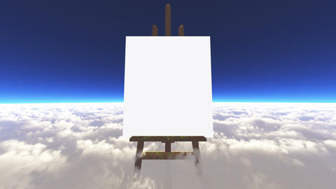 The canvas in the clouds Stock Video Footage