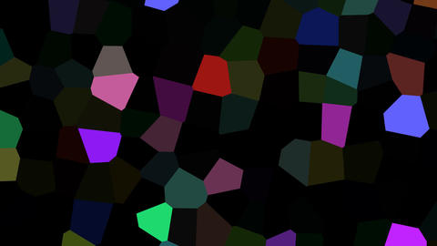 Rotating multicolored shards Stock Video Footage