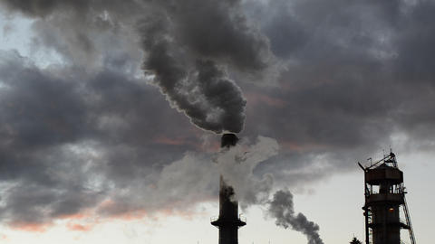 Smoke stack global warming Footage