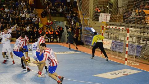 Handball Players Running And Scoring. Good Ambient stock footage
