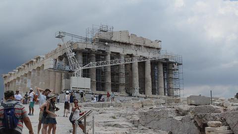 Parthenon, Acropolis, Athens, Greece Footage