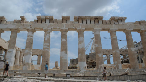 Parthenon, Acropolis, Athens, Greece Footage