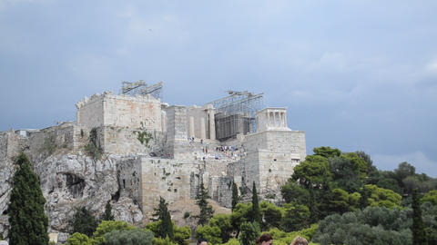 Acropolis, Athens, Greece stock footage
