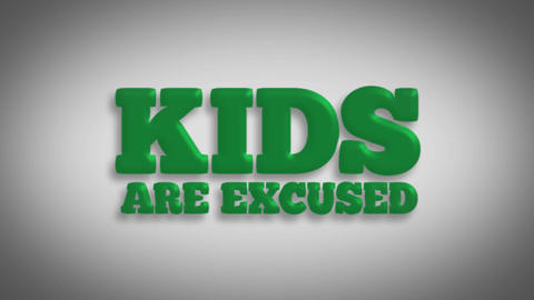 Kids Are Excused stock footage