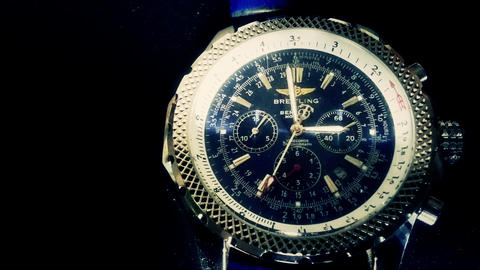 Breitling Wristwatch , Time Lapse stock footage