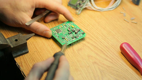 Job soldering close up Footage