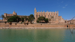 Cathedral in Palma de Mallorca Footage