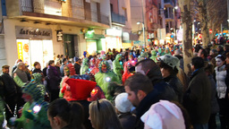 Street Carnival Party in Terrassa Footage