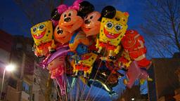 Street Carnival Party in Terrassa Footage
