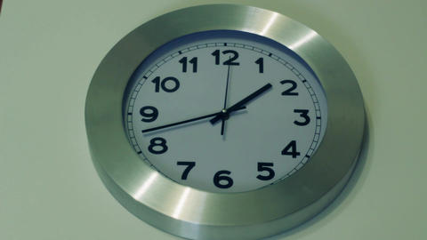 clock white , White Backround Footage