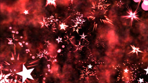 Abstract Star Shapes, Space - Loop Red stock footage