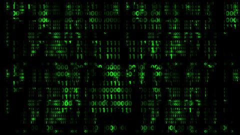 Falling digital numbers, loop Animation