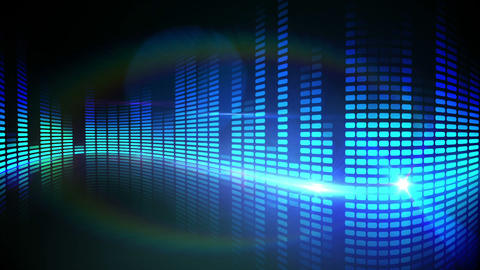 Blue pixel design of music volume Animation