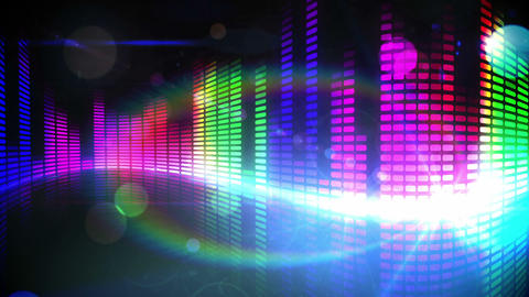 Colourful pixel design of music volume Animation
