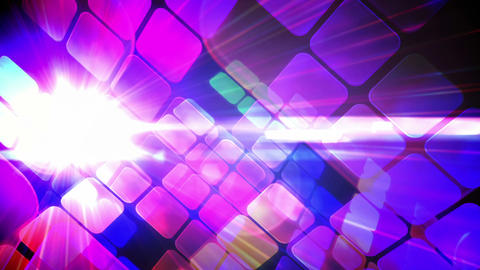 Tile pattern with glowing lights Animation