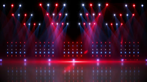 Stage under red and blue spotlights Animation