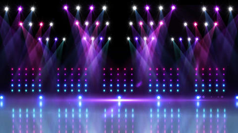 Stage under purple and blue spotlights Stock Video Footage