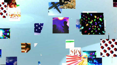 Video clips forming 3d message, Stock Animation