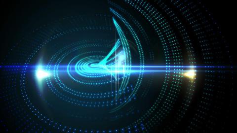 Blue pixel wave design on black background Animation