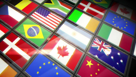 Collage of screens showing flags Animation